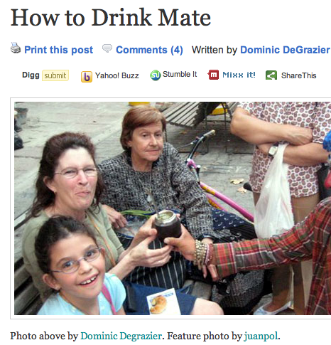 People drinking mate
